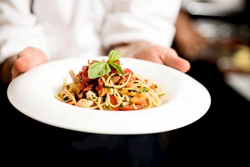 エビと春野菜のスパゲッティ